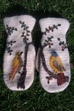 Bird mittens