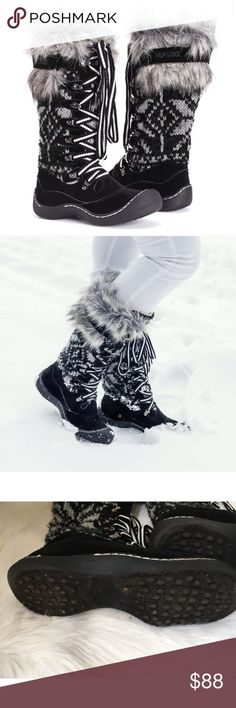 NEW GIRLS WINTER SNOW SKI WARM FUR FURRY THERMAL BOOTS ANKLE BOOT SIZE 12-5