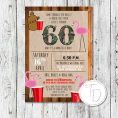 White trash party invite wording google search party time rustic redneck birthday invitation by trusner designs stopboris Image collections