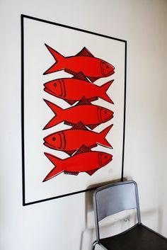 Valérie Le Roux - amazing potter and artist Polymer Clay Fish, Fish Artwork, Red Fish Blue Fish, Fish House, Fish Crafts, Art Corner, Fish Design, Fish Print, Pics Art