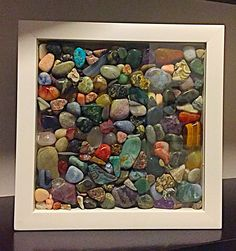 Details Of Rock Display Ideas 171 - Pecansthomedecor Rock Tumbling, Rock Crafts, Arts And Crafts, D House, Rock Decor, Rocks And Gems, Displaying Collections, Pebble Art, Stone Art