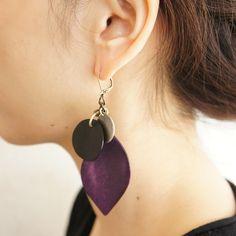 片耳ピアス「grape」