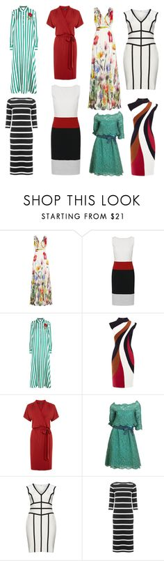 """Фасоны платьев"" by siberia-natali ❤ liked on Polyvore featuring Joelle, Dolce&Gabbana, Warehouse, Christian Dior and Gina Bacconi"