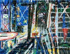 RA Summer Exhibition 2015 work 376 :ILLUMINATED METROPOLIS by Gordon Benson RA, £6800.