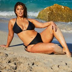 653a8d975fc Ashley Graham x Swimsuits For All Icon Black Triangle Bikini with Side Tie  Brief
