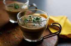 Puréed Mushroom Soup Recipe - NYT Cooking #MeatlessMonday #mushrooms #vegetarian