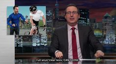 """John Oliver nell'episodio 3x17 (Doping) di """"Last Week Tonight With John Oliver""""."""
