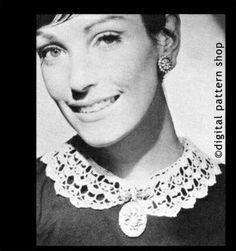 Vintage Peter Pan Collar Crochet Pattern Digital Instant Download PDF