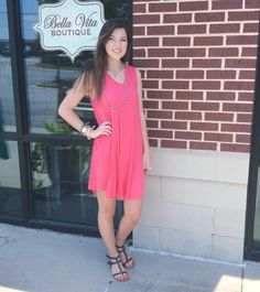 Sleeveless pocket dresses are all the rage! #pocketdress #summer