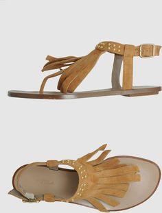 Furla Beige Flip Flops $96 @ YOOX