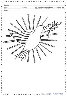 Desenhos De Pombas Bobby Pins, Hair Accessories, Dove Drawing, Peace Dove, Print Coloring Pages, Hair Pins, Hair Accessory, Hair Barrettes