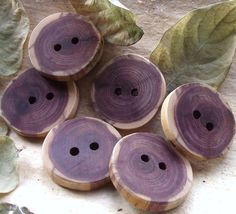 Wood Buttons  6 Cedar Wooden Tree Branch Buttons by ARemarkYouMade, $10.75