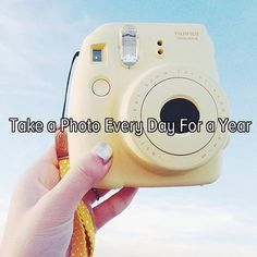 Bucket list: document my life by taking a photo every day for a year! ... I've actually already done this, but I think selfies would be cool to see how much you change over the year.