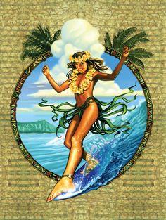 """Wave Dancer"" #SurfArt poster by Rick Rietveld"