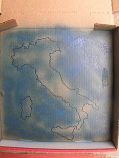 Salt Dough Maps in a Pizza Box