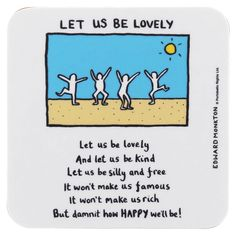 Let Us Be Lovely Coaster | CampusGifts.co.uk