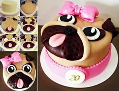 DIY Adorable Pug Cake + Video Tutorial