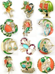 DiNicola, Signs of the Zodiac pins