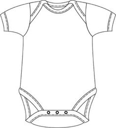 Onesie pattern. Use the printable outline for crafts