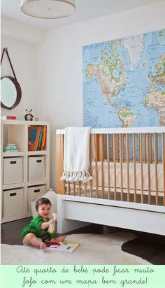 Decoração clean e adorável para o quarto de um bebê viajante