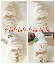 Turn an old sweater into an adorable sweater snowman! Perfect for gift giving, and easy to make - these cheeky little snowmen will add personality and fun to your holiday decor! Find the full tutorial at diy beautify! Sock Snowman Craft, Sock Crafts, Cute Snowman, Snowman Crafts, Snowman Hat, Christmas Crafts For Gifts, Perfect Christmas Gifts, Diy Christmas Ornaments, Christmas Ideas
