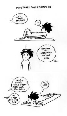 pilates cartoons - Google Search