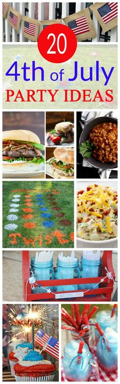 Hosting a of July party can be overwhelming. Never fear, we've got you covered with Awesome Fourth of July Party Ideas. From the moment your guests pull up to your house until the time you wish them farewell, this list of games, decorations and (mos Fourth Of July Food, 4th Of July Party, July 4th, Holiday Crafts, Holiday Fun, Holiday Recipes, Holiday Ideas, Summer Recipes, Party Recipes