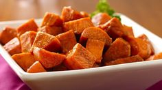 Sweet Potatoes with Cinnamon Honey - Looking for a delicious side dish? Then check out this baked sweet potato recipe with a flavorful twist!