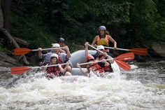 Whitewater rafting with the Nantahala Outdoor Center on the Pigeon River near Gatlinburg, TN!