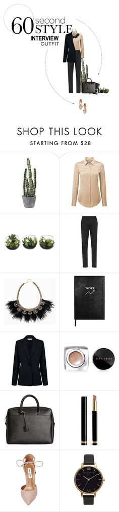 """""""Job Interview's Outfit"""" by solespejismo ❤ liked on Polyvore featuring Pure Collection, Stella & Dot, Sloane Stationery, Atea Oceanie, Bobbi Brown Cosmetics, Yves Saint Laurent, Gucci, Steve Madden, Olivia Burton and StreetStyle"""