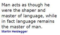 Heidegger Dixit.-