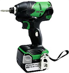 """Hitachi WH14DSL Cordless Impact Driver Max torque: 145Nm(1,280in-lbs.). Lightweight 1.4kg with 3.0Ah-Capacity lithium-ion slide battery. Slim Grip Perimeter: 118mm (4-21/32"""") at the smallest portion. 45-mim charger UC18YRSL with fan. Two mode power: Save mode for small bit or Power mode for larger bit. LED light and remaining Battery Power Indicator on body For More Details: http://www.mrthomas.in/hitachi-wh14dsl-cordless-impact-driver_475"""