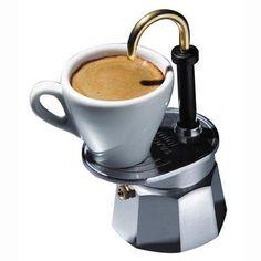 Bialetti Mini Express. I have the double spout version. Twice the espresso.