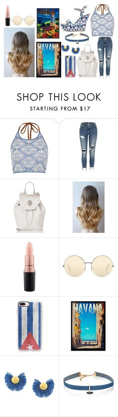 """""""Spring Style #47"""" by paola200 ❤ liked on Polyvore featuring River Island, ShoeDazzle, Philipp Plein, MAC Cosmetics, Victoria Beckham, Casetify, Katerina Makriyianni and Jules Smith"""