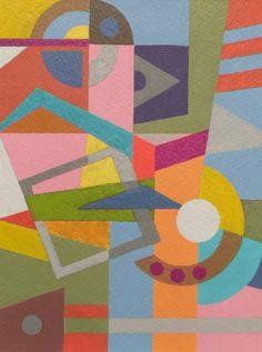 "PRIMAVERA, acrylic on paper, 4.7 x 6.3""  (12 x 16 cm)  2017, Christa Stephens"