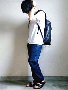 インスタ→kucchiiiii56 おはようございます! 古着で作った爽やか(量産型大学生)コーデ
