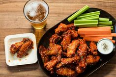 Chicken Wings with Gochujang Sauce | Whole Foods Recipe   http://www.wholefoodsmarket.com/recipe/4995