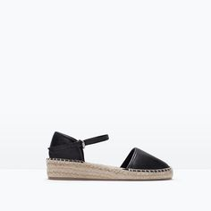 Image 1 of LEATHER D'ORSAY ESPADRILLE SHOES from Zara