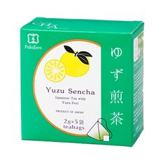 Yuzu citrusflavoured sencha green tea bags are perfect for a tea break at home and at work. Yuzu citrus tea has a refreshingand lasting flavour.Foundedin 1790 in Kyoto, Fukujuen is one of the most respected and prestigious green tea sellers in Japan.  Gift packs with 6or 9flavoured tea bags available.  6 assorted flavoured sencha green tea 9 assorted flavoured sencha green tea    Producer: Fukujuen, Kyoto Country of manufacturing: Japan Amount: 2g x 5 bags in a box Shelf life: 365…