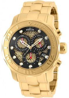 Invicta Hombre 90075 Pro diver Reloj Acero inoxidable Negro
