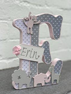 Tiere Buchstaben Baby-Mädchen Kinderzimmer frei stehend
