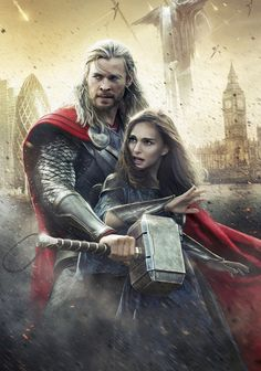 Poster Art || Thor Odinson, Jane Foster || Thor TDW || 736px × 1,049px || #art #fosterson || Higher resolution available at source link