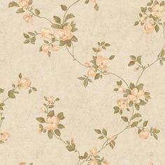 The Wallpaper Company 56 sq. Peach and Green Magnolia Blossoms Wallpaper - The Home Depot Home Depot Wallpaper, Dining Room Wallpaper, Wallpaper Samples, Wallpaper Designs, Bathroom Wallpaper, Beige Wallpaper, Classic Wallpaper, Fabric Wallpaper, Flower Wallpaper