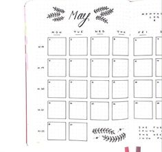 Bullet journal monthly
