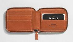Leather Three Zip Wallet   Shinola®