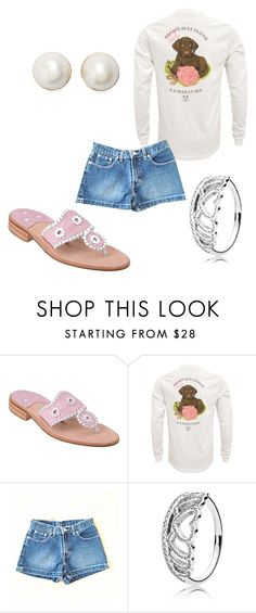 """""""Untitled #57"""" by emily-grace-olivieri ❤ liked on Polyvore featuring Jack Rogers, Jordache, Pandora and Kate Spade"""