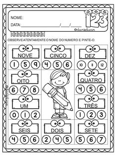 ATIVIDADES DE MATEMÁTICA Subtracting Integers Worksheet, Math Intervention, Alphabet Worksheets, Classroom Behavior, 4th Grade Math, Preschool Math, Addition And Subtraction, Word Problems, My Teacher