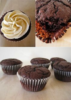 Here is another recipe for very good chocolate cupcakes; the secret ingredient is sour cream, which keeps the cake moist and tender. They are just as good as Hannah's chocolate cupcakes, which uses...