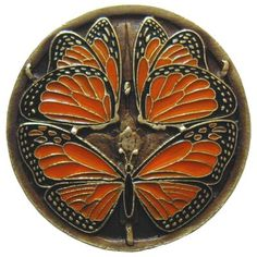 Notting Hill Arts and Crafts 1 Rotondo Diametro Finitura Knob: ottone Butterfly Art And Craft, Monarch Butterfly, Notting Hill, Dollar Store Crafts, Crafts To Sell, Easy Crafts, Fun Craft, Craft Art, Painted Rocks