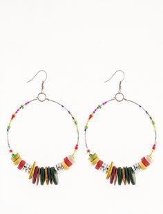 Σκουλαρίκια Ντάλια - Στρογγυλά σκουλαρίκια με πολύχρωμες χάντρες σε φωτεινά χρώματα. 1,99€  #skoylarikia #accessories